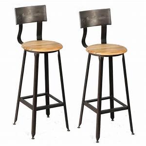 Chaise Bar Bois : chaise bar metal design en image ~ Teatrodelosmanantiales.com Idées de Décoration