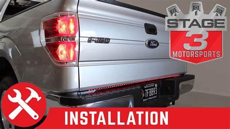 recon lighting led tailgate light bar installed
