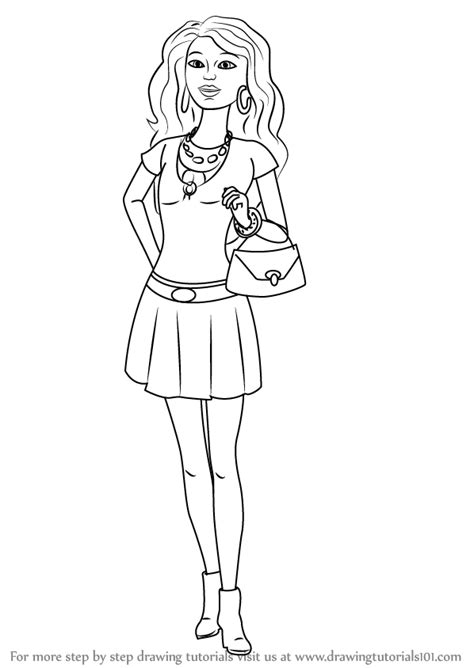 barbie dreamhouse coloring pages sketch coloring page