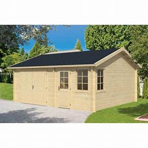 Garage Voiture En Bois : garage abri voiture en kit bois moa avec remise 30m2 fenetres ~ Dallasstarsshop.com Idées de Décoration