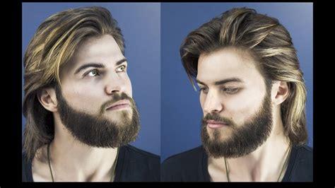 cut  style long hair  men collar length