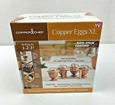 copper chef copper eggs xl egg makers  egg caddy  ebay