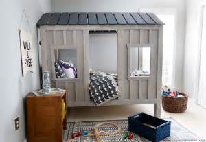 cabin house plans with loft white cabin bed by jen woodhouse diy projects