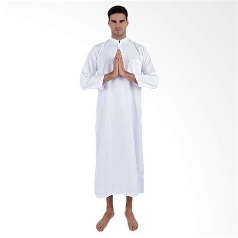 jual elfs shop 5f17061 baju muslim gamis pria putih harga kualitas terjamin