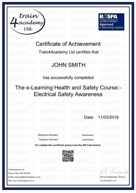 electrical safety   rospa approved