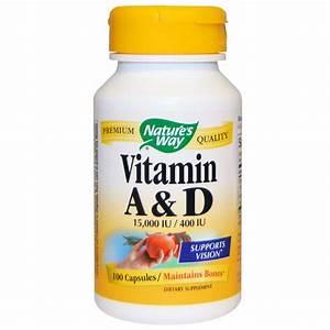 Nature's Way, Vitamin A and D, 15,000 IU / 400 IU, 100 ...