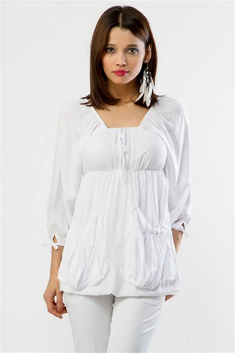 White Cotton Tops Collection 2013 | Fashion Tops with ...