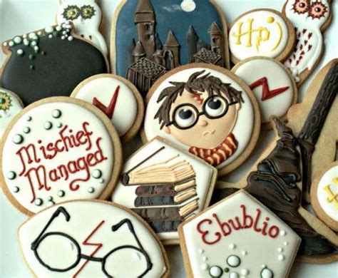 theatrical wizard themed cookies harry potter themed