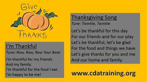 child care basics resource thanksgiving songs 235 | Thanksgiving Song 4