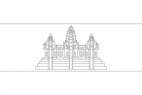 Cambodia Flag Coloring Page Coloring Pages For Free