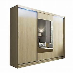 Schlafzimmerschrank Mit Spiegel : mirjan24 schwebet renschrank kola mit spiegel led beleuchtung hochwertiges schlafzimmerschrank ~ Orissabook.com Haus und Dekorationen