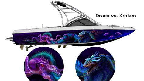 Kraken Boat Graphics by Find Draco Vs Kraken Custom Boat Wrap Customized To