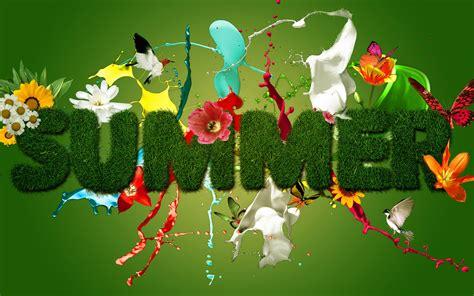 Summer Season Wishing Design Logo Hd Wallpaper
