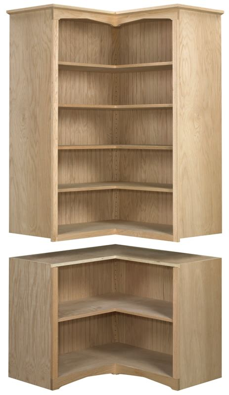 Corner Bookcases With Doors by Ab Or Bk7 2 Corner Bookcase With Doors Stark Wood