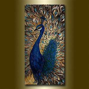 for d 1st payment Original Peacock Oil Painting Textured