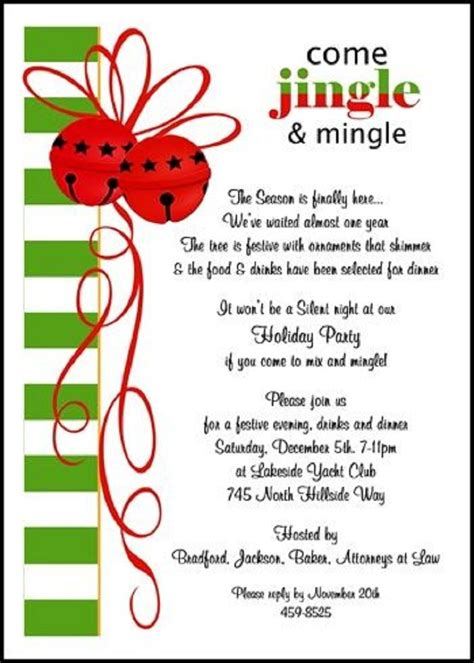 Ideas: Holiday Party Invitation Wording For Sweet Moment