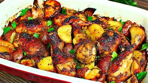 pan roasted chicken  potatoes recipe easy