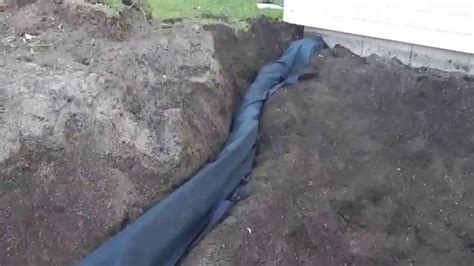 corrugated drain pipe open bottom diy drain system part 8 fast and easy