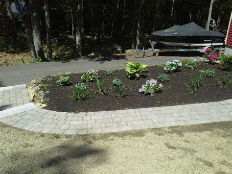 New Patio by New Walkway With Granite Steps New Patio New Planter And
