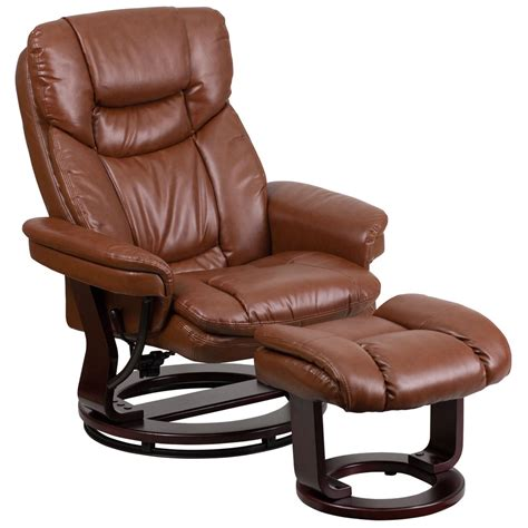 leather lounge chair with ottoman leather recliner with ottoman ebay