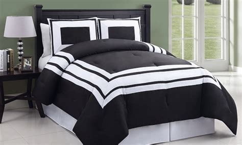 black and white comforter sets groupon goods
