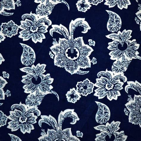 fabric print design buy indigo blue flower sanganeri block print design cotton fabric