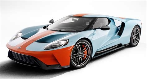 2019 Ford Gt by 2019 Ford Gt Heritage Edition Rocks A Gulf Livery Carscoops