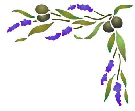 peindre du carrelage cuisine enorme choix pochoirs provençaux lavande olivier