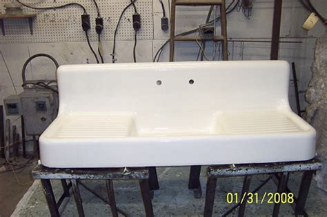 retro kitchen sink real porcelain enamel coating to restore your drainboard 1943