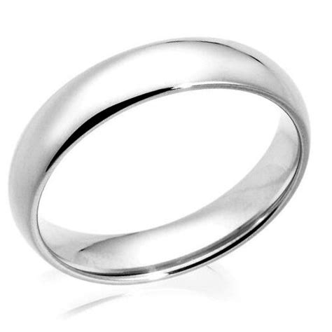 kt solid white gold mm size  plain mens  womens