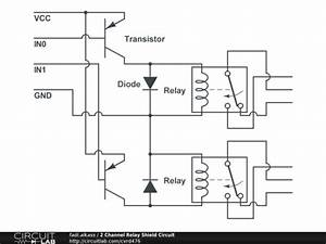 2 channel relay shield circuit circuitlab With channel lpt relay board electronicslab