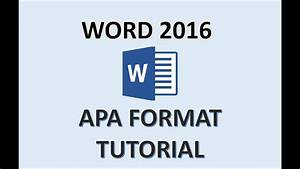 Apa Word Document Word 2016 Apa Format How To Do An Apa Style Paper In