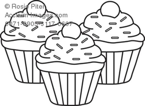 clip art illustration  cupcakes