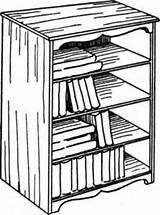 Shelves Shelf Drawing Standing Furniture Getdrawings sketch template
