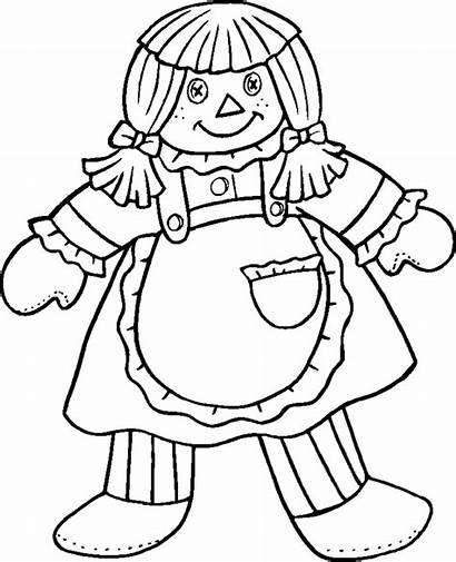 Coloring Pages Doll Printable Dolls Colouring Rag
