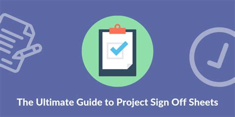 ultimate guide  project sign  sheets business