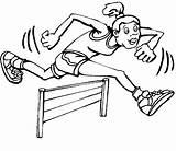 Coloring Track Field Olympic Games Olympics Jump Sheets Hurdle Hurdler Printable Usa sketch template