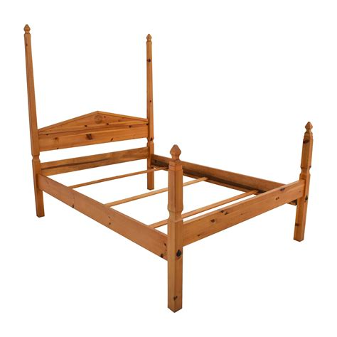 pine  poster queen bed frame beds