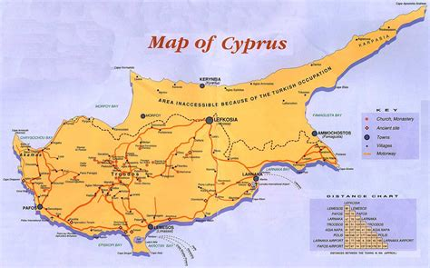 cyprus guide map cyprus mappery