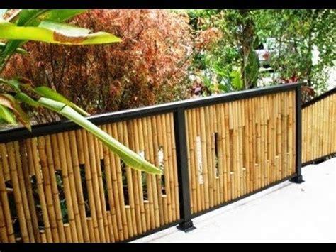 kerajinan pagar rumah  bambu unik  cantik youtube