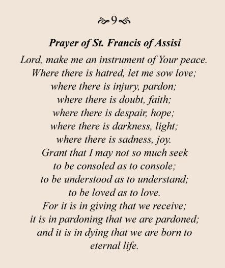 st francis of assisi peace prayer prayer of st francis of assisi meaningful things for my wall prayer of
