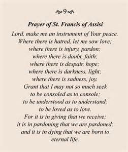 prayer of st francis of assisi pin by emily on lift up my spirits