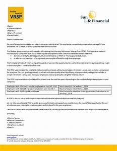 Sun life financial pooled registered pension plan prpp for Financial advisor prospecting letter sample