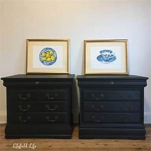 Lilyfield, Life, Hand, Painted, Black, Bedside, Tables, By, Lilyfield, Life