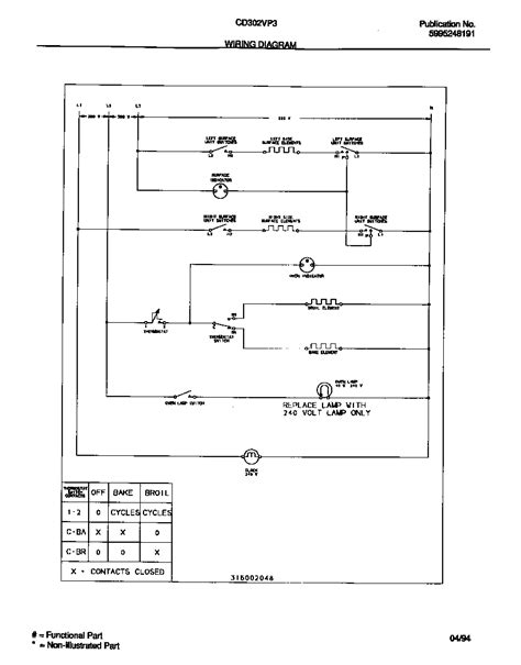 wiring diagram diagram parts list for model cd302vp3w02