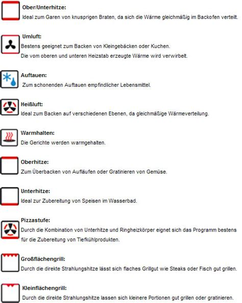 Backofen Ober Unterhitze by Produktsuche In Backoefen