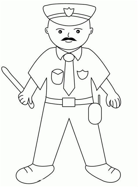 policeman coloring page coloring home
