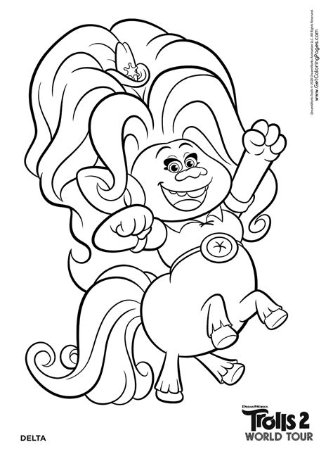 trolls world  coloring pages getcoloringpagescom
