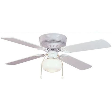 white 42 quot hugger ceiling fan w light kit 41 5745