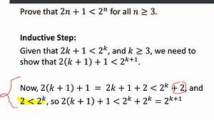 Induction Help  Prove  2n 1